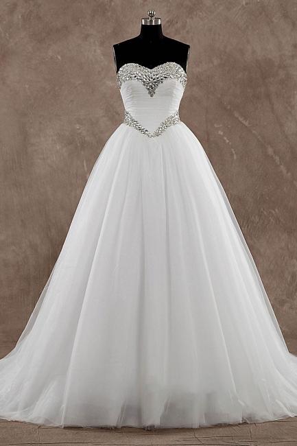 Schlichte Brautkleider A Linie | Hochzeitskleider Günstig Online