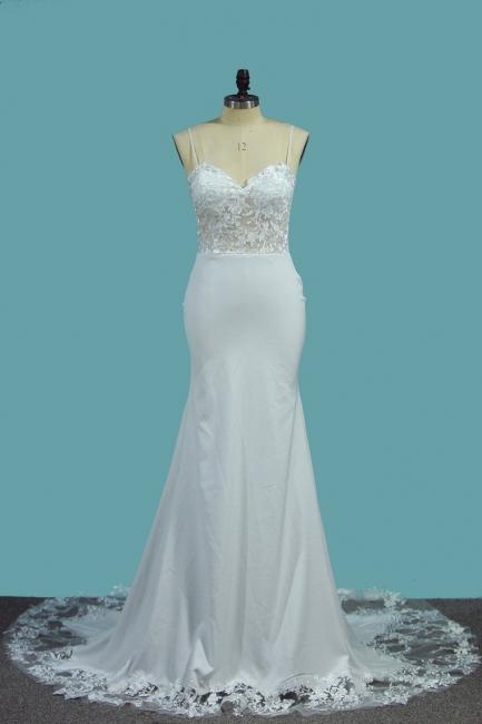 Schlichte Brautkleider Meerjungfrau | Hochzeitskleid Standesamt