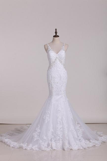 Weiße Brautkleider Meerjungfrau Spitze | Hochzeitskleider Günstig