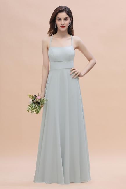 Brautjungfernkleider Lang Mint | Chiffon Kleider Günstig