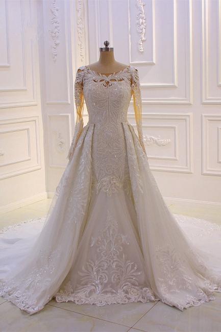 Prinzessinnen Hochzeitskleider mit Glitzer | Brautkleider Lange Ärmel