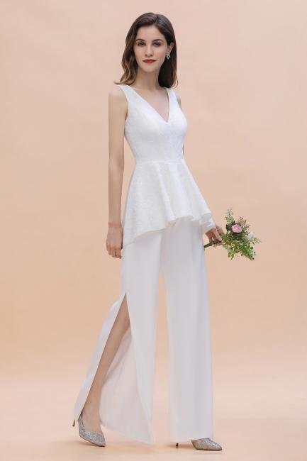 Jumpsuit Brautjungfernkleider Weiß | Kleider für Brautjungfern