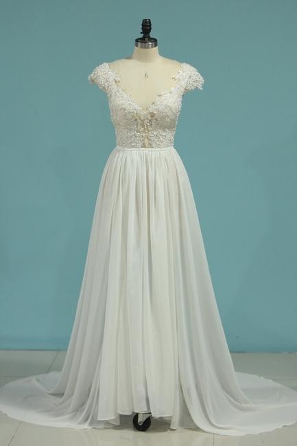 Schlichte Hochzeitskledier Günstig | Brautkleid Mit Spitze