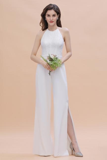 Jumpsuit Chiffon Kleider Günstig | Brautjungfernkleider Lang Weiß