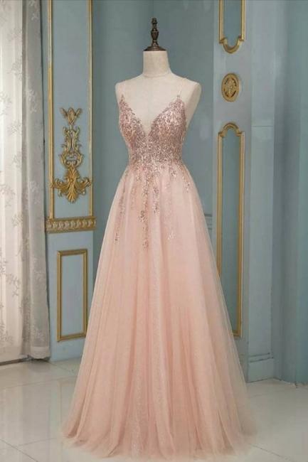 Peach Abendkleider Lang Glitzer | Abendmoden Online Kaufen
