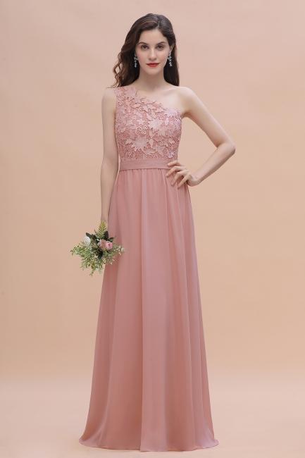Brautjungfernkleider Lang Altrosa | Chiffon Kleider mit Spitze