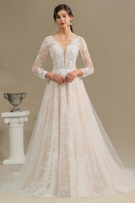 Fashion Brautkleider mit  Ärmel | A Linie Hochzeitskleid Standesamt