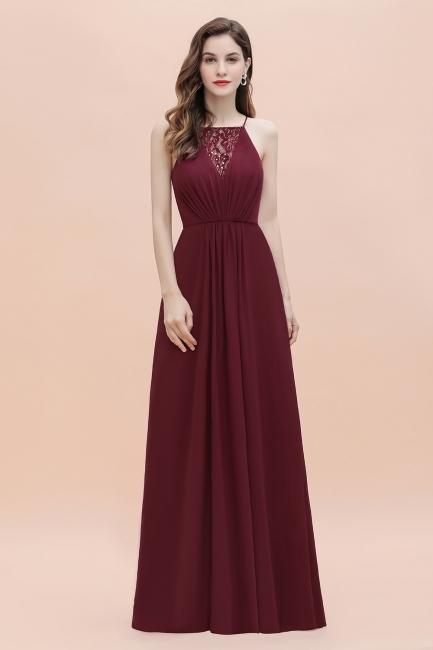 Schöne Abendkleider Lang | Burgundy Bruatjungfenrkleider Günstig