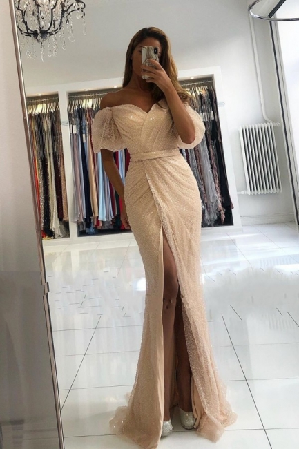 Extravagante Abendkleider Mit Glitzer | Abiballkleider Lang Günstig