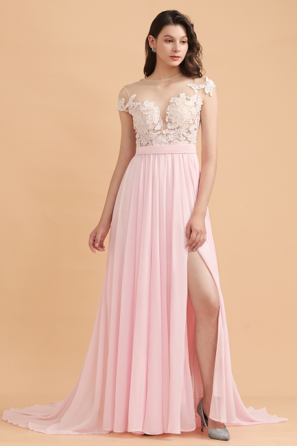 Rosa Brautjungfernkleider   Brautjungfernkleid Lang Günstig