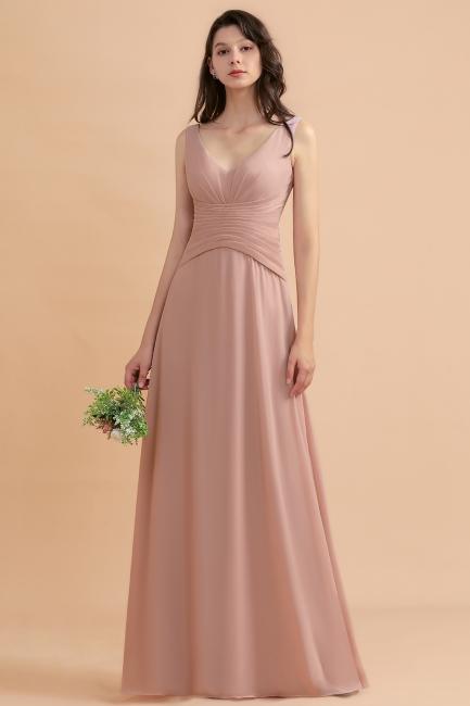 Brautjungfernkleider Lang Altrosa | Kleider für Brautjungfern