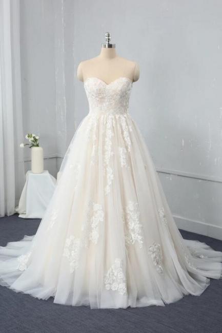 Brautkleid Standesam | A Linie Hochzeitskleid Spitze