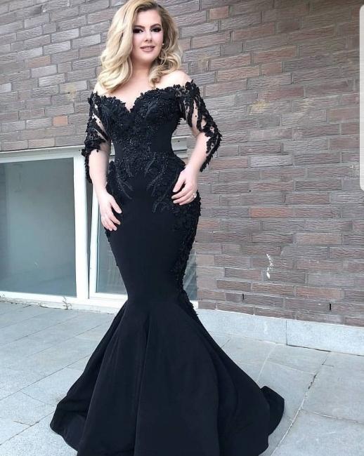 Designer Abendkleid Mit Ärmel | Schwarze Abendkleider Lang Günstig