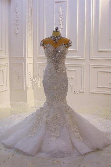Hochzeitskleid Spitze | Brautkleid Meerjungfrau