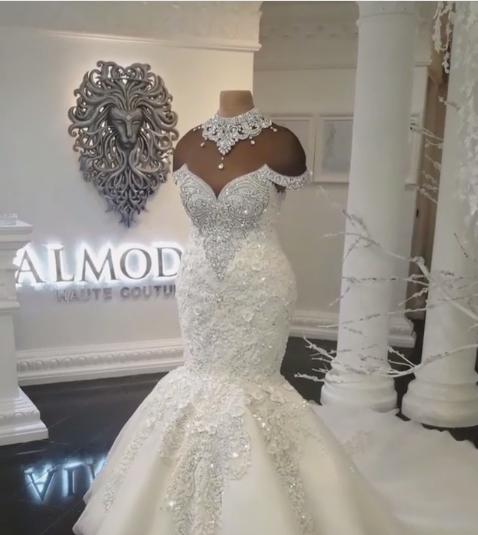 Brautkleider Meerjungfrau Stpitze | Extravagante Hochzeitskleider
