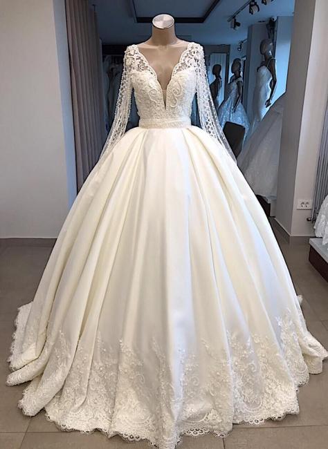 Hochzeitskleider Prinzessin Luxus | Brautkleider mit Ärmel