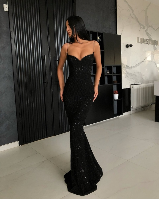 Festlich Abendkleid Lang Schwarz   Abiballkleider Abendkleider Günstig