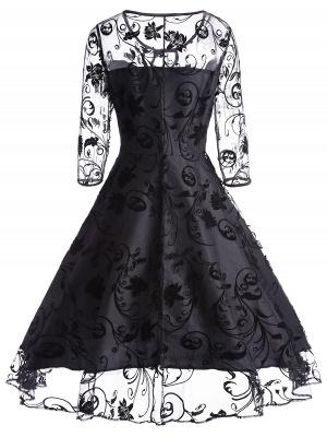 Schwarze Abendkleider Kurz | Cocktailkleider mit Spitze_2