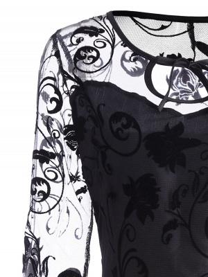 Schwarze Abendkleider Kurz | Cocktailkleider mit Spitze_4