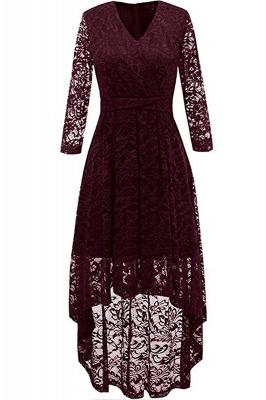 Burgundy Abendkleid Kurz | Spitze Kleider Mit Ärmel