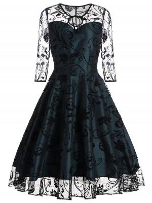 Schwarze Abendkleider Kurz | Cocktailkleider mit Spitze_7