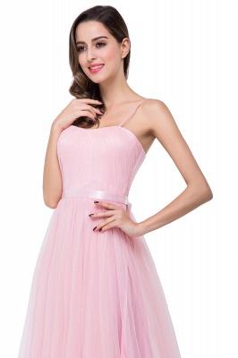 Schlichtes Abiballkleid | Abendkleider Lang Rosa_12