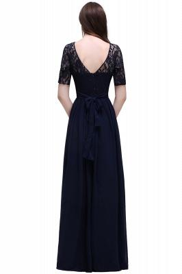 Blaue Abendkleider Lang Günstig | Abiballkleider mit Ärmel_10