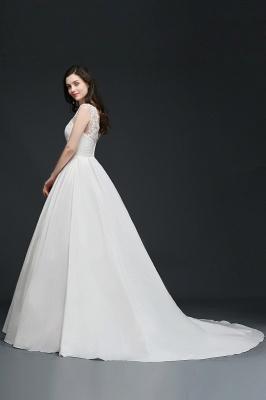 Schlichtes Hochzeitskleid | Brautkleider A Linie Online_5