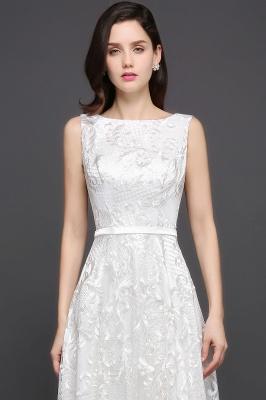 Abendkleider mit Spitze   Abiballkleider Lang Weiß_6