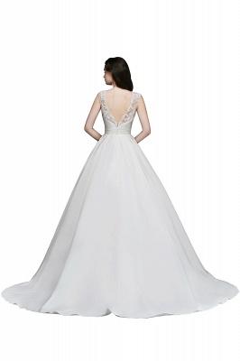 Schlichtes Hochzeitskleid | Brautkleider A Linie Online_4