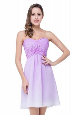 Lavender Cocktailkleider kurz   Schlichtes Abendkleid Online_2