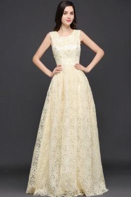Gelb Abendkleid Lang V Ausschnitt | Abiballkleider mit Spitze_7