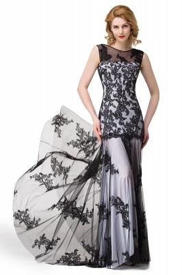 Designer Abendkleider mit Spitze | Abiballkleider Lang Schwarz_13