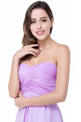 Lavender Cocktailkleider kurz | Schlichtes Abendkleid Online_11