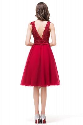 Rote Abendkleider V Ausschnitt | Cocktailkleider Kurz_3