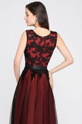 Abendkleider Rot Schwarz | Abiballkleider Lang Günstig_8