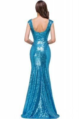 Blaue Abendkleider Lang Glitzer   Abiballkleider Günstig_2