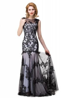 Designer Abendkleider mit Spitze | Abiballkleider Lang Schwarz_1
