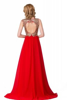 Abendkleid Lang V Ausschnitt | Rote Abiballkleider Günstig_4
