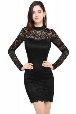 Schwarzes Cocktailkleid   Abendkleider mit Ärmel_2