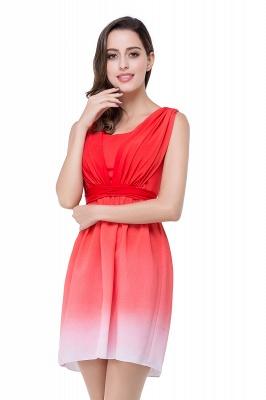Schlichtes Abendkleid Rot | Cocktailkleider Kurz_7