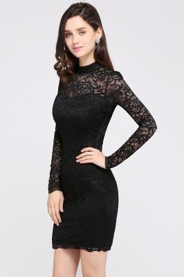Schwarzes Cocktailkleid   Abendkleider mit Ärmel_4