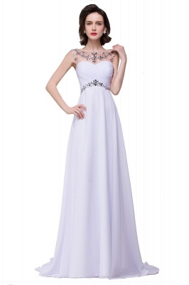 Weiße Abendkleider Lang Günstig | Abiballkleider Online_1
