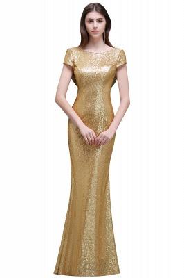 Gold Abendkleider Lang   Abiballkleider mit Glitzer_7
