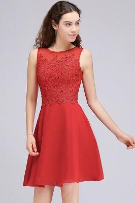 Rote Cocktailkleider | Chiffon Kleider Abendkleider Kurz_5