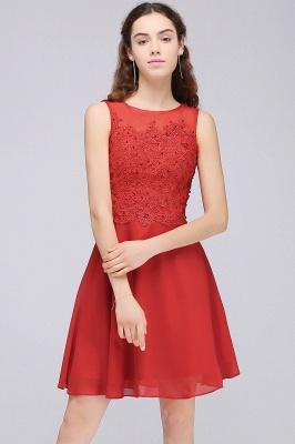 Rote Cocktailkleider | Chiffon Kleider Abendkleider Kurz_7