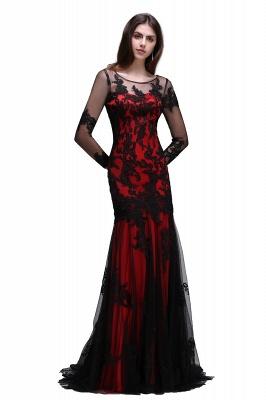 Abendkleider Lang Schwarz | Abiballkleider mit Spitze_2
