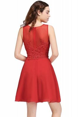 Rote Cocktailkleider | Chiffon Kleider Abendkleider Kurz_3