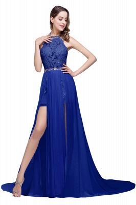 König Blaue Abendkleider Lang Günstig | Abiballkleider Mit Spitze_5