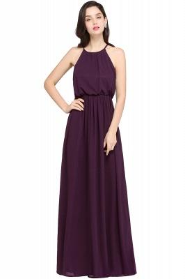 Schlichte Damenmoden   Chiffon Kleider Abendkleider Lang_3